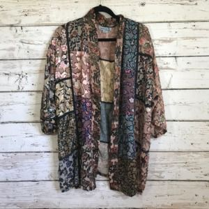 Champagne Collection Kimono Cardigan Patch Top